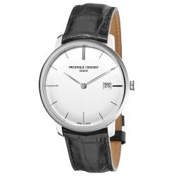 Frederique Constant Men's 'Slim Line' Silver Dial Watch