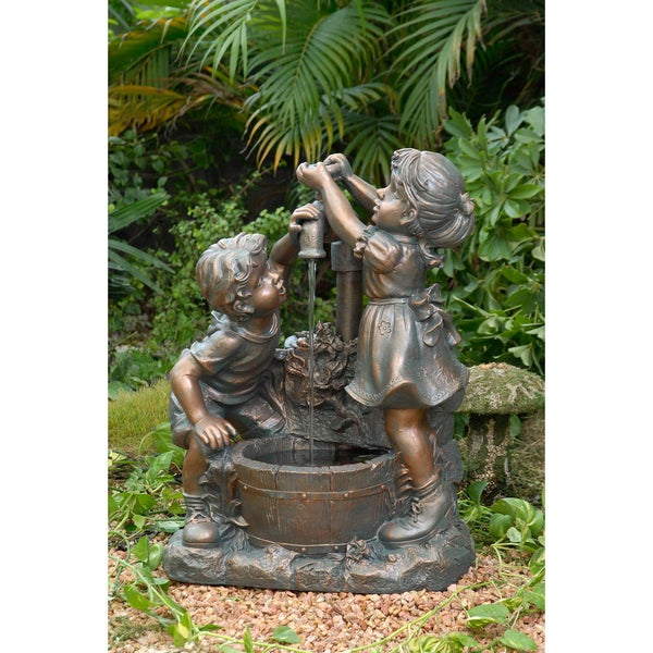 Boy and Girl Water Fountain
