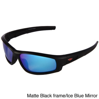 Chilis Men's 'Solvent' Polarized Wrap Sunglasses