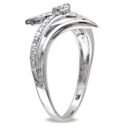 Miadora 10k White Gold 1/6ct TDW Diamond Ring (G-H, I2-I3)