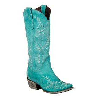Lane Boots Women's 'Ashlee Lace' Leather Cowboy Boots