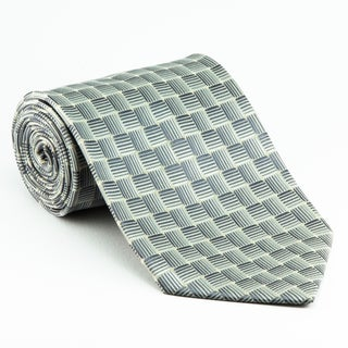 Platinum Ties Men's 'Silver Water' Necktie