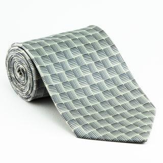 Platinum Ties Men's 'Silver Water' Necktie