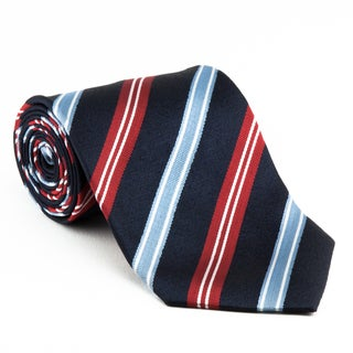 Platinum Ties Men's 'Red, White and Blue' Necktie