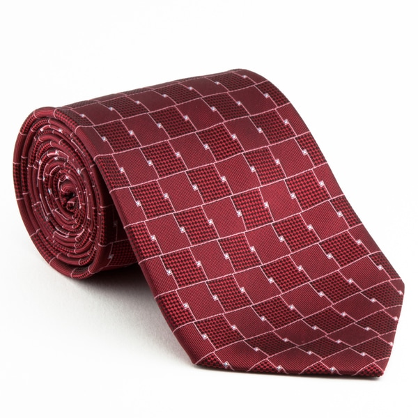 Platinum Ties Men's 'Red Chrome' Necktie