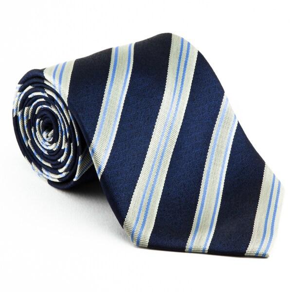 Platinum Ties Men's 'Blue Mirror' Necktie
