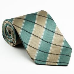 Platinum Ties Men's 'Green and Gold' Necktie