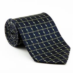 Platinum Ties Men's 'Blue Chrome' Necktie