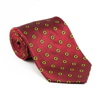 Platinum Ties Men's 'Red Clover' Necktie