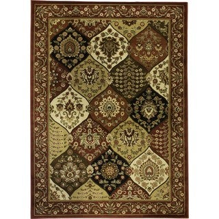Wentworth Red Panel Rug (5'3 x 7'3)