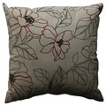 Pillow Perfect Decorative Red and Beige Floral Pillow