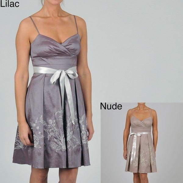 Oleg Cassini Women's Embroidered/ Sequined Dress