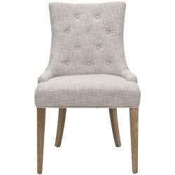 Safavieh Becca Grey Viscose Weathered Oak Finish Dining Chair