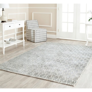 Safavieh Hand-knotted Mirage Grey Viscose Rug (5' x 7' 6)