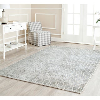 Hand-knotted Mirage Grey Viscose Rug (7' 6 x 9' 6)