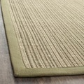 Dream Natural Fiber Green Sisal Rug (2' x 8')
