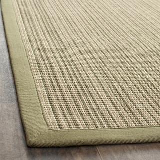 Dream Natural Fiber Green Sisal Rug (7' 6 x 9' 6)