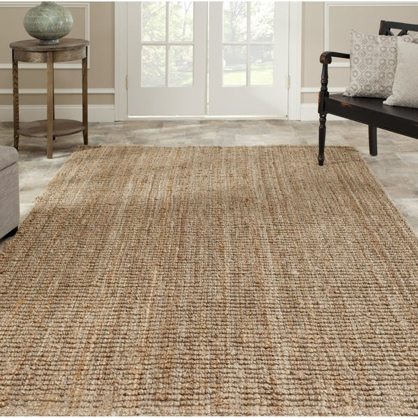 Safavieh Hand-woven Natural Fiber Natural Accents Chunky Thick Jute Rug (7'6 x 9'6)