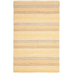 Hand-knotted Vegetable Dye Jubilee Beige Hemp Rug (2' x 8')