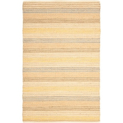 Hand-knotted Vegetable Dye Jubilee Beige Hemp Rug (4' x 6')