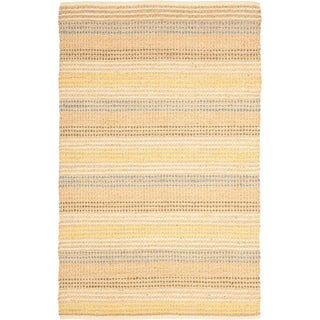 Hand-knotted Vegetable Dye Jubilee Beige Hemp Rug (5' x 7' 6)