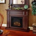 Camden Real Flame Mahogany Electric Fireplace