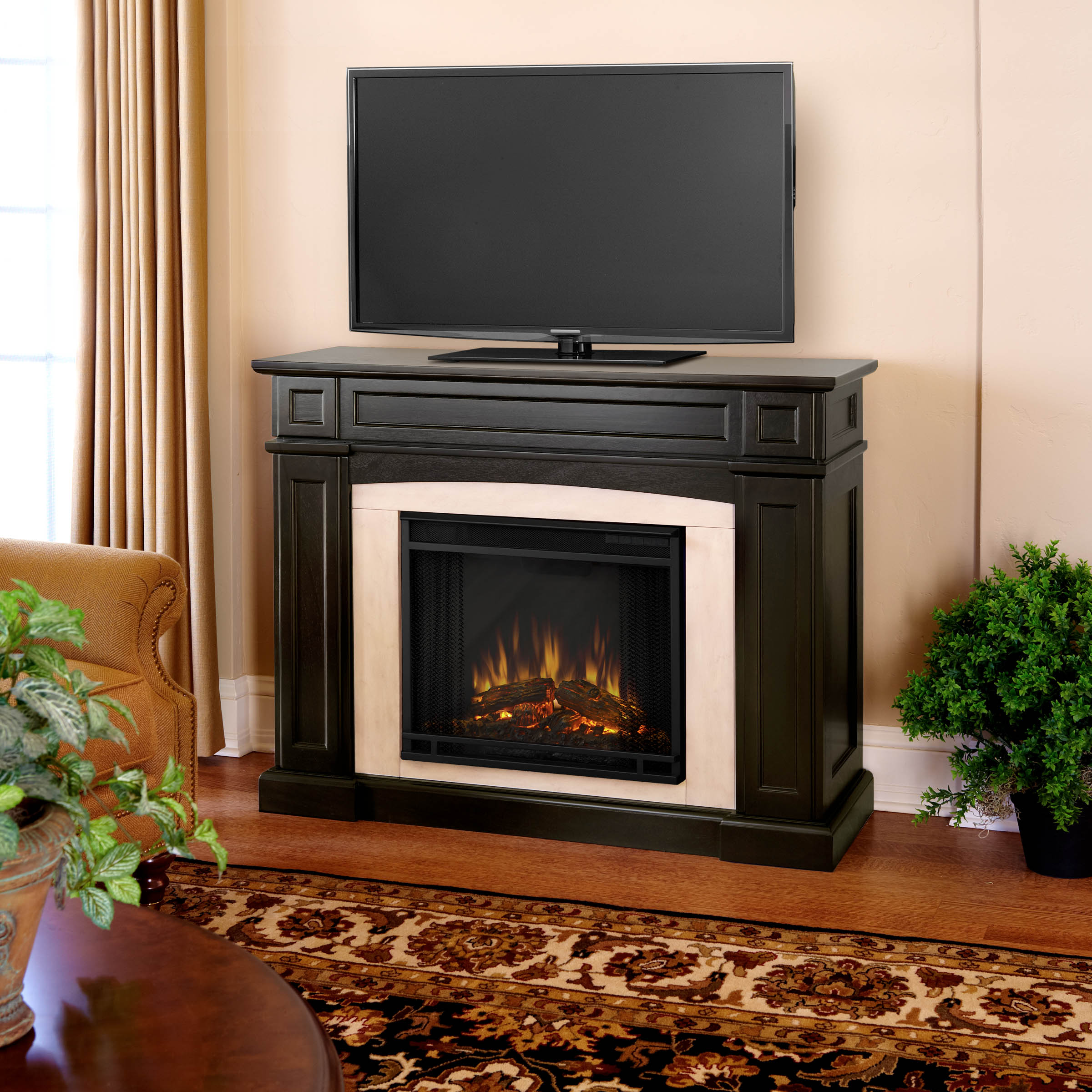 Real Flame Rutherford Real Flame Dark Walnut Electric Fireplace at Sears.com