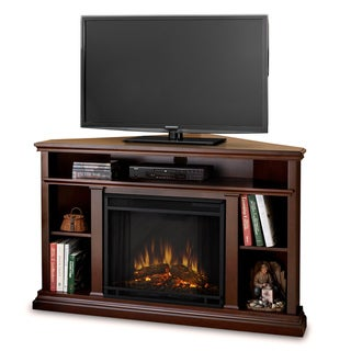 Real Flame Churchill Corner 50.75-inch Dark Espresso Electric Fireplace