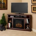 Churchill Corner Real Flame Dark Espresso Electric Fireplace
