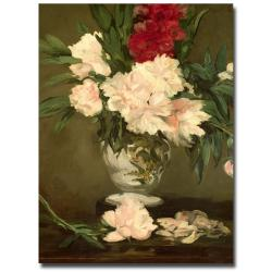 Edouard Manet 'Vase of Peonies 1864' Canvas Art