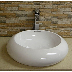 Somette Stylish Vitreous-China White Vessel Sink