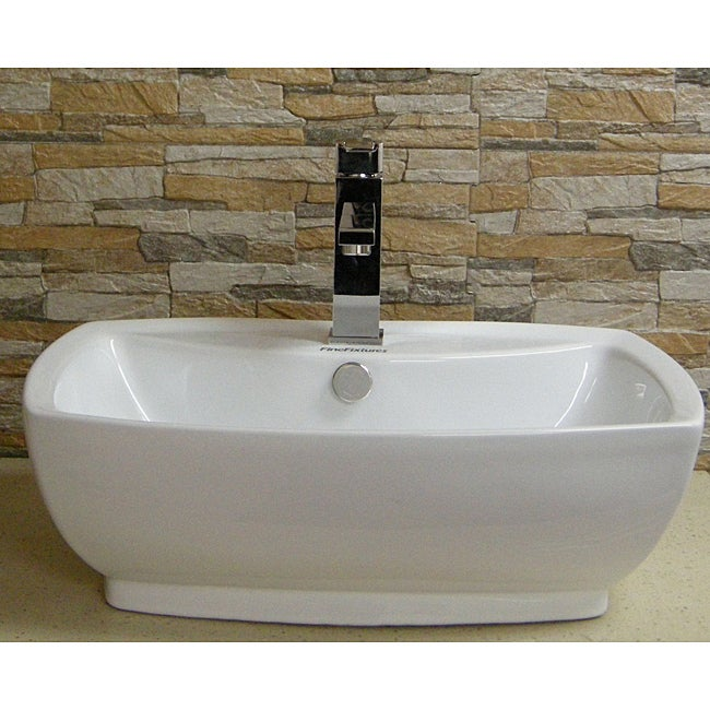 China Sink : Fine Fixtures Vitreous China Ceramic White Vessel Sink - 14035101 ...