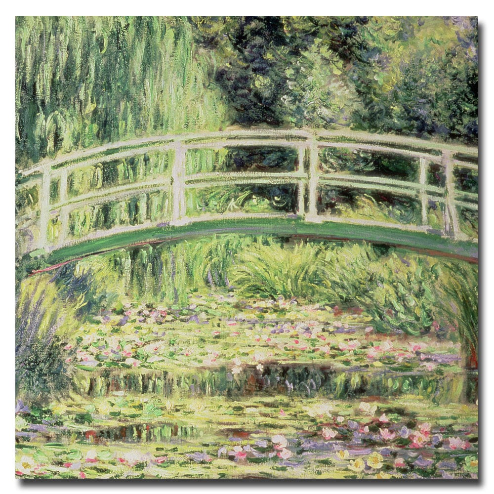 Claude Monet 'White Nenuphars 1899' Gallery-Wrapped Canvas Art