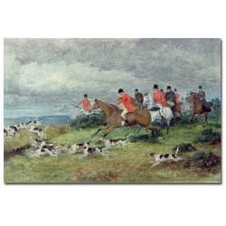 Randolph Caldecott 'Fox Hunting in Surrey' Canvas Art