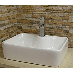 Modern Vitreous-China White Vessel Sink