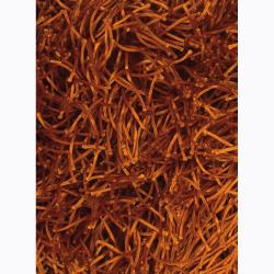 Handwoven Rust-Orange Mandara Shag Rug (7'9 x 10'6)