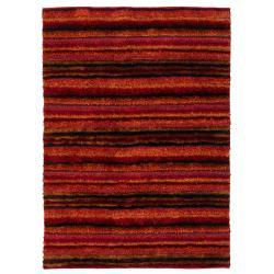 Handwoven One-Inch Casual Mandara Shag Rug (9' x 13')
