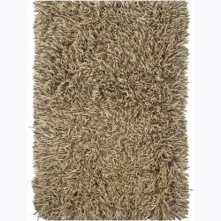 Handwoven Mandara Flat Cut-Pile New Zealand Wool Area Rug (7'9