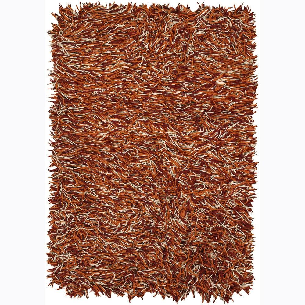 Hand-woven Mandara Flat Cut Pile New Zealand Wool Rug (9' x 13')