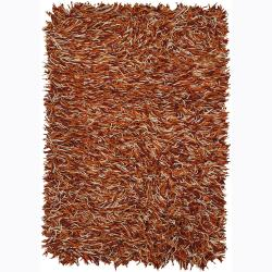 Hand-woven Mandara Flat Cut Pile New Zealand Wool Rug (9' x 13')