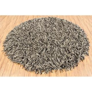 Hand-woven Mandara Flat Cut Pile New Zealand Wool (7'9 Round)