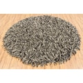 Hand-woven Mandara Flat Cut Pile New Zealand Wool (7'9 Round)