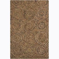 Hand-Tufted Modern Geometric Mandara Wool Rug (7'9 x 10'6)
