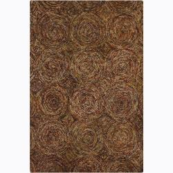 Hand-Tufted Contemporary Geometric Mandara Wool Rug (7'9 x 10'6)