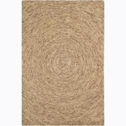 Hand-Tufted Brown/Beige Mandara Wool Rug (7'9 x 10'6)
