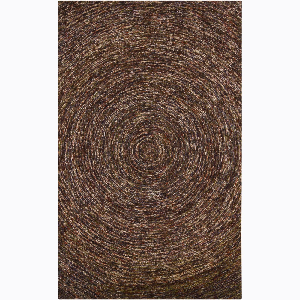 Artist's Loom Hand-tufted Contemporary Abstract Wool Rug (7'9x10'6)