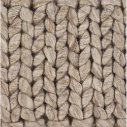 Handwoven Tan/Brown Mandara Rug (5' x 7'6)