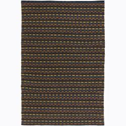 Handwoven Multicolor Mandara New Zealand Wool Rug (9' x 13')
