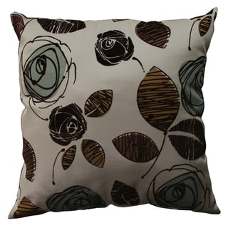 Pillow Perfect Floral Flocked Throw Pillow