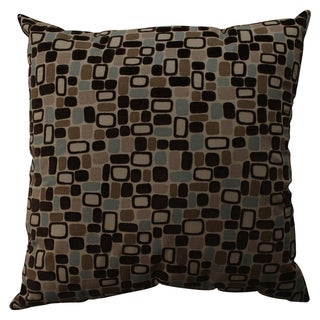 Pillow Perfect Decorative Brown and Blue Pebbles Pillow